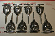 ORIGINAL SET of (8) 1960's VINTAGE GRETSCH BASS DRUM TENSION RODS & CLAWS! #A919