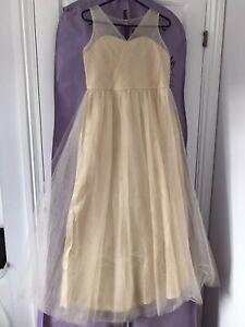bridesmaid dress age 12.  Champayne Colour