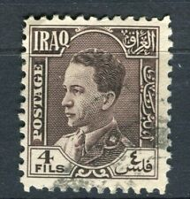 IRAQ; 1934 early King Ghazi issue fine used 4fl. value
