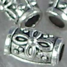 12 Pewter Barrel Beads 10x6mm ~ Top Quality ~