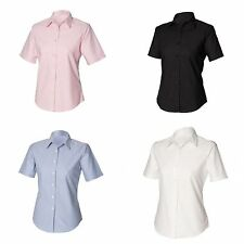 Hip Length Cotton Blend Collared Tops & Shirts for Women