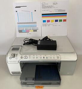 HP Photosmart C5280 All-In-One Inkjet Printer Alignment & Test Report Shown.