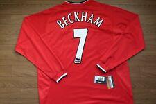 Manchester United #7 Beckham 100% Original 2000/02 Home Jersey NWT XXL [2796]