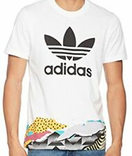 adidas Performance Mens Camo Linear Crew Neck Short Sleeve T Shirt Top - White XL