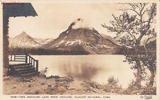Postcard Rppc Two Medicine Lake from Chalets Glacier National Park Montana Mt