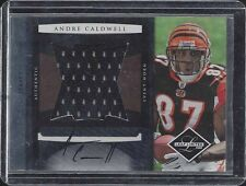 ANDRE CALDWELL 2008 LEAF LIMITED JUMBO ROOKIE JERSEY AUTO RC #D 4/15