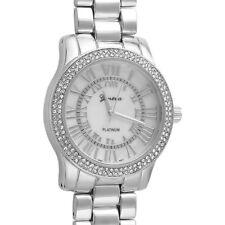 Silver Roman Dial Crystal Womens Fashion Watch