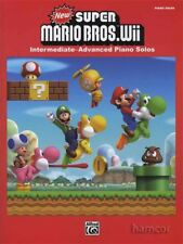 New Super Mario Bros Wii PIANO SOLOS Music Book Intermediate - Advanced