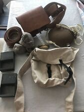 Civil War reenactment Canteen,Cartridge Box, Knapsack,Belt & Buckles, Socks Csa