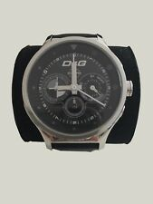 D&G Dolce & Gabbana Herren-Armbanduhr DW0211 Schwarz-Silber Armband Luxus