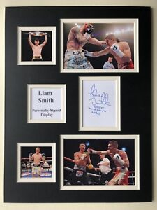 """Boxing Liam Smith Signed 16"""" X 12"""" Double Mounted Display"""