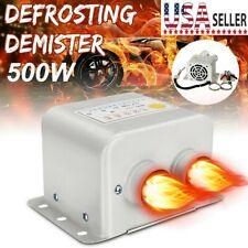 Portable 500W 12V Car Heater Fan Heated Window Demister Defroster Heating Warmer