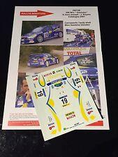 DECALS 1/24 PEUGEOT 206 WRC JEAN JOSEPH CATALUNYA 2001 RALLY WRC RENAISSANCE