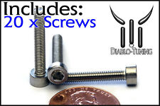 M3 x 20mm – Qty 20 – DIN 912 Socket Head Caps Screws - Stainless Steel A2 / 18-8