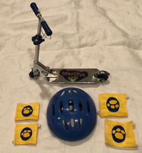 Build-A-Bear BABW Metal Scooter Helmet Knee Elbow Pads Scootfur 6 piece set
