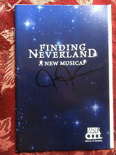 Finding Neverland playbill musical A R T  signed by Jeremy Jordan autographed