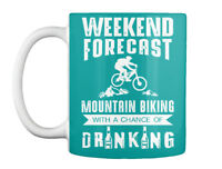 In style Mountain Bike Biking S Downhill - Weekend Forecast With Gift Coffee Mug