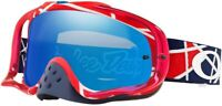 Oakley Crowbar Troy Lee Design MX Goggle Metric Red/White Black Ice Iridium Lens