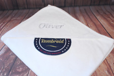 Personalised white soft hooded towel, baby towel, baby bath towel, embroidered