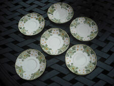 6*Vintage Saucers*Maruta Ware *Mayfield* 7012 Japan*Daisies*Coffee*Tea*Crafts