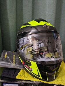 Scorpion EXO-T510 Tarmac Helmet Size Small 55-56cm Neon Black