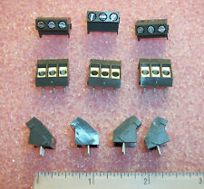 QTY (30) 974-T-DS/03 WECO 3 POSITION SCREW TERMINAL BLOCKS 5mm 45 DEGREE ROHS