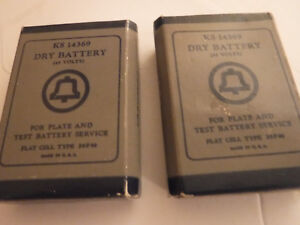 2 AT&T Dry Battery, KS14369, for plate & Test Battery Service- Untested-Preowned