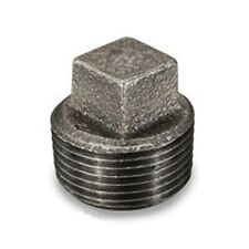 """3/4"""" SQUARE HEAD PLUG BLACK MALLEABLE IRON PIPE FITTING (PACK OF 10) - P6787"""