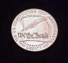 """1987 """"U.S. CONSTITUTION~200TH ANNIVERSARY"""" U.S. FINE SILVER DOLLAR"""
