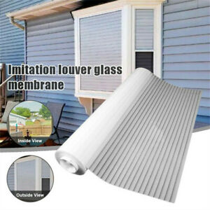 1-Way Vision Horizontal Glass Blinds Static Glue-free for Home Office 21x39inch