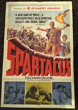 SPARTACUS awards 1sh '61 classic Stanley Kubrick & Kirk Douglas epic