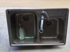 Franke dual bowl drop-in sink, swivel/pull-out tap and detergent dispenser