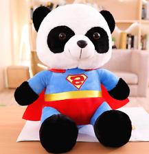 Superman Bear Stuffed Animal Superman Bear Cartoon Animal Plush Doll Toy 25cm