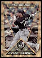 2020 Donruss Elite Series Gold #E-13 Yoan Moncada /99 - Chicago White Sox