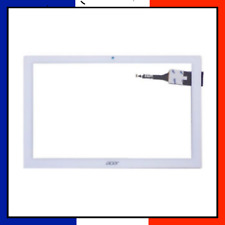 VITRE TACTILE ACER ICONIA ONE 10 B3-A40 FHD A7002 K2AM A7001 BLANC AVEC LOGO