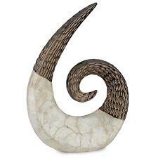 New Stylish Large Bronze Capiz Swirl Sculpture Lounge Curl Home Decor Ornament