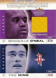 2003-04 Fleer Genuine Insider Scoring Threat GU Shaquille O'Neal Jersey Yao Ming