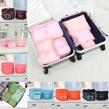 6Pcs vêtements rangement Sacs Cube voyage Accueil bagages Organiseur 7Couleur