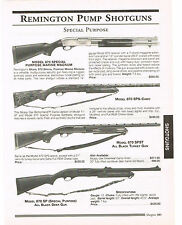 REMINGTON PUMP SHOTGUNS 870 MARINE MAGNUM WITH SPECIFICATIONS/PRICES 1999