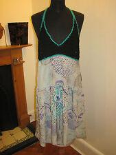 MISSONI silk & CROCHET tea DRESS 8-10 RP£550 NEW boho party flapper made Italy
