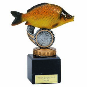 Classic Common Carp Flexx Trophy Award (12cm) free engraving & p&p