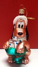 Disney Pluto w Mail Bag Energizer Glass Ornament Christmas Holiday 2000