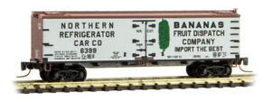 Micro-Trains MTL Z-Scale 40' Wood Reefer National Refrigerator Car/Bananas 6399