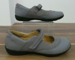 Clarks Artisan Ladies Grey Leather & Suede Mary Jane Style Shoes UK 4.5 EU 37.5