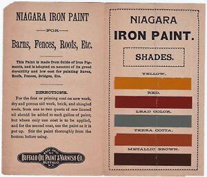 RARE Advertising Pamphlet + Niagara Iron Paint Buffalo Company NY w Samples 1906