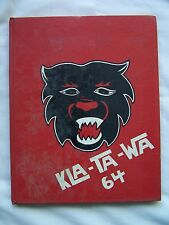 1964 SNOHOMISH HIGH SCHOOL YEARBOOK  SNOHOMISH, WASHINGTON  KLA-TA-WA