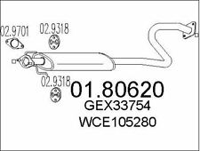 SILENCIEUX INTERMéDIAIRE POUR ROVER 25 3/5 PORTES 1.4 16V,1.1,MG MG ZR 105