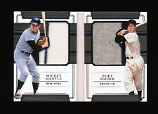 MICKEY MANTLE & DUKE SNIDER 2018 NATIONAL TREASURES SILHOUETTES WORN JERSEY #/25