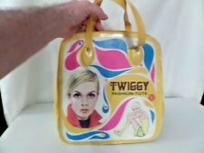 Rare Vintage 1967 Barbie Twiggy Fashion Tote Bag Twiggy Doll Case Mattel