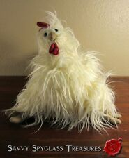 Adorable Long Haired (?) Chicken Rooster Jellycat London Plush Stuffed Toy